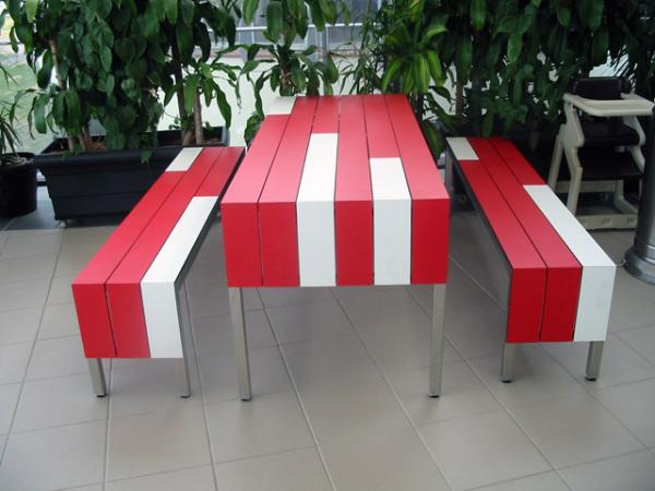 Duropal Slat Table