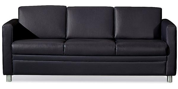 Three Seater Black Sofa