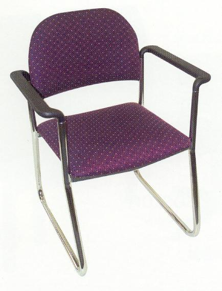 Triest Sled Chair With Straight Arms