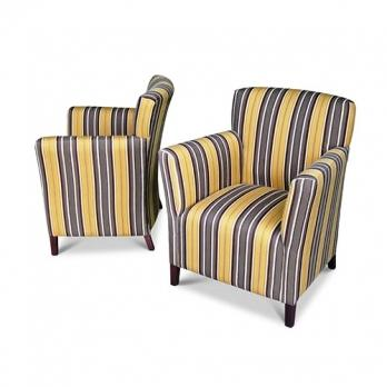 Upholstered Tub Chair Striped