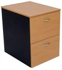 Timber 2 Drawer Filing Cabinet