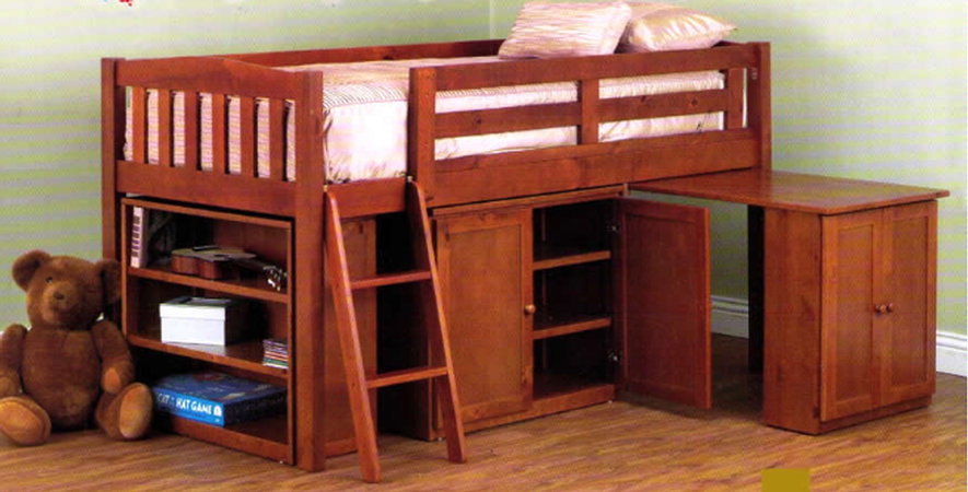 Colt Cabin Teak Single Midi Lofts And Bunks