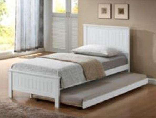 Quincy Bed with Trundle - Single (White)