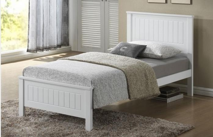 Quincy Bed - King Single (White)