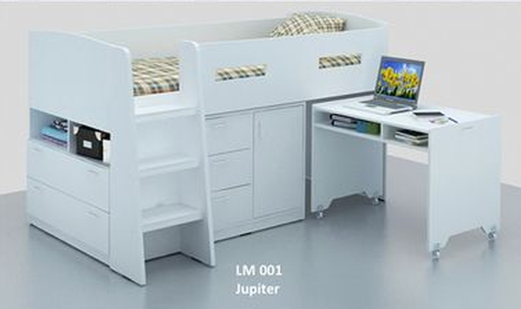 new product dc27a 65215 white bunk bed | single white midi sleeper