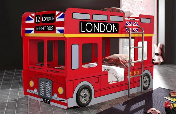 London Bus Bunk Car Bed