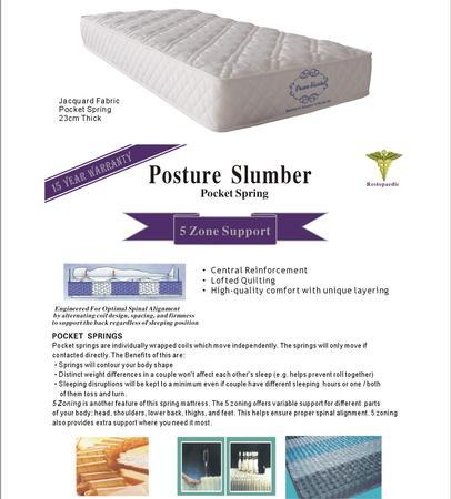 Posture Slumber Mattress - King Single