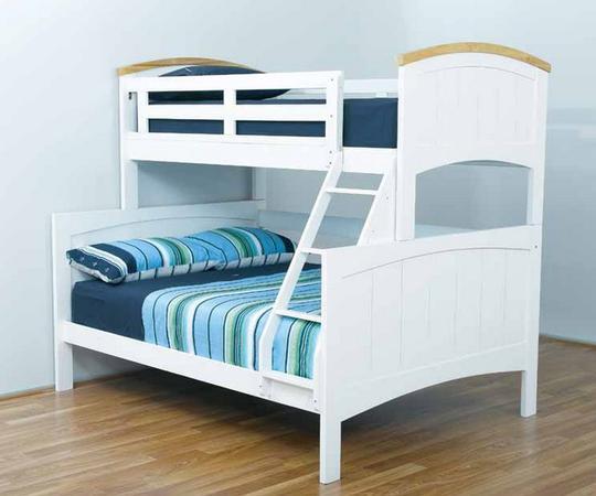Trio bunk bed white trio bunk sydney bunk bed for Beds sydney
