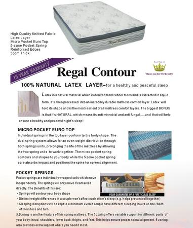 Regal Contour Mattress - Double
