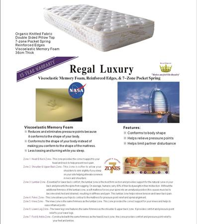 Regal Luxury Mattress - King Single