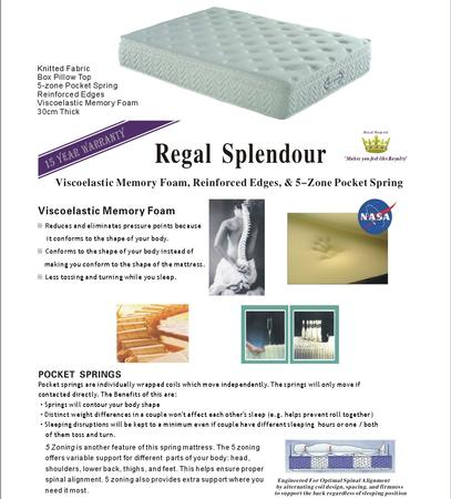 Regal Splendour Mattress - Single