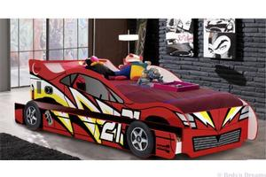Jazz Car Bed & trundle (Red)