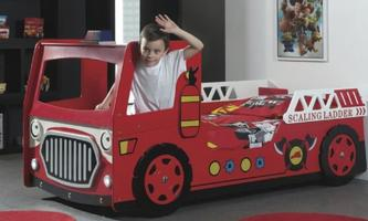 Modern Fire Engine Car Bed with LED Head Light
