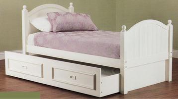 Crest Bed & Trundle Under (Single) FLOOR STOCK