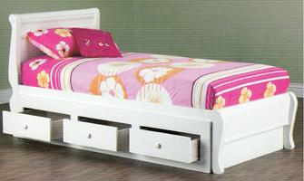 Copenhagen Bed - 3 Drawer Under (Single)