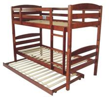Cosmos Bunk with Trundle$799 Single (Dirty Oak or White)