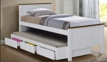 Emden Captain Bed with Drawer & Trundle