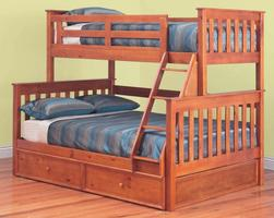 Fort Trio Bunk with Trundle$1020 (Teak or White)
