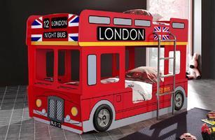 London Bus Bunk Car Bed