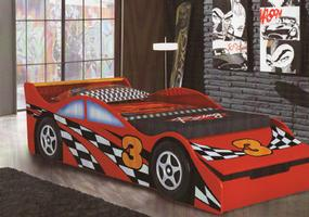 Toddler Car Bed with Toybox