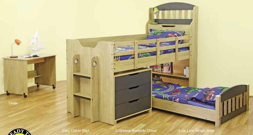Toby Bunk Bed Single Top And Bottom Plus Chest Of Drawer Bunk Beds