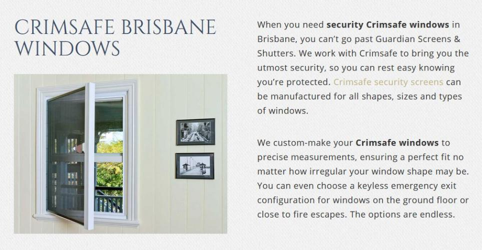 Crimsafe Brisbane | Guardian Screens and Shutters