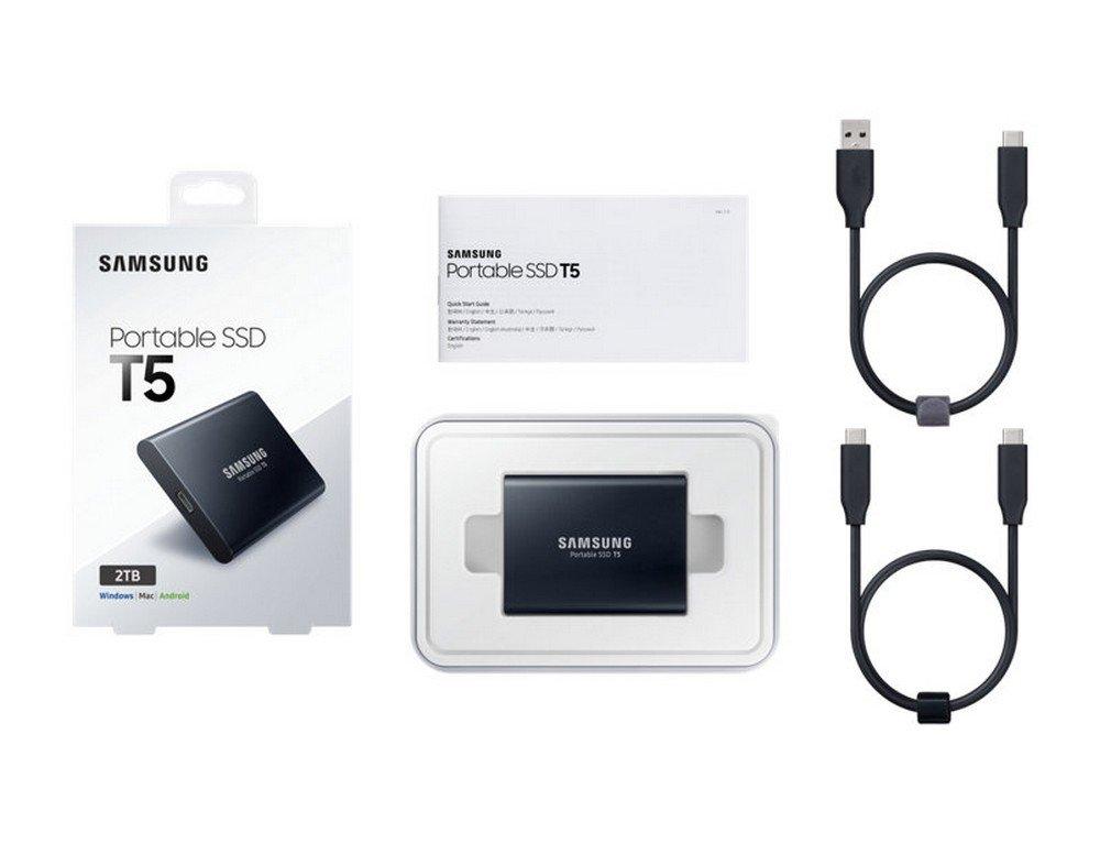 Samsung Portable Solid State Drive T5, Black, MU-PA2T0B/WW