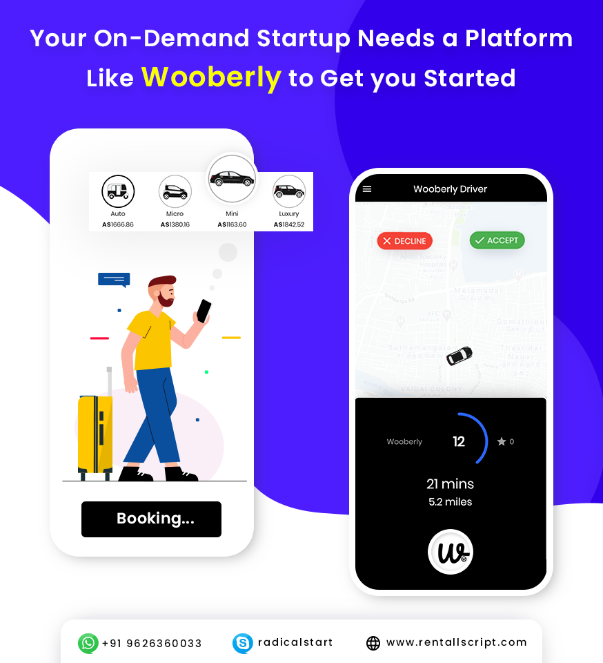 Best Selling Uber Clone App - Wooberly