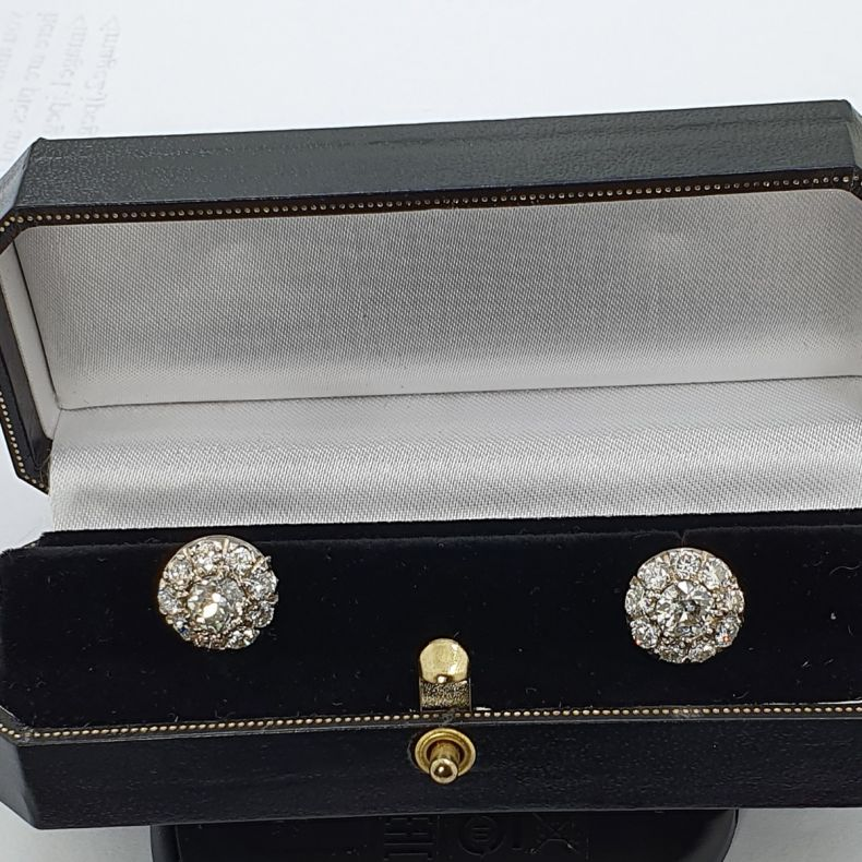 Diamond Earrings featuring Old Cut Diamonds - Best Price Offered - VintageTimes