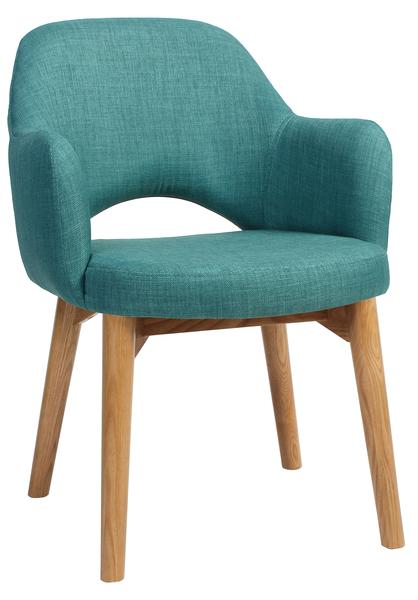 Albury chair light oak upholstered