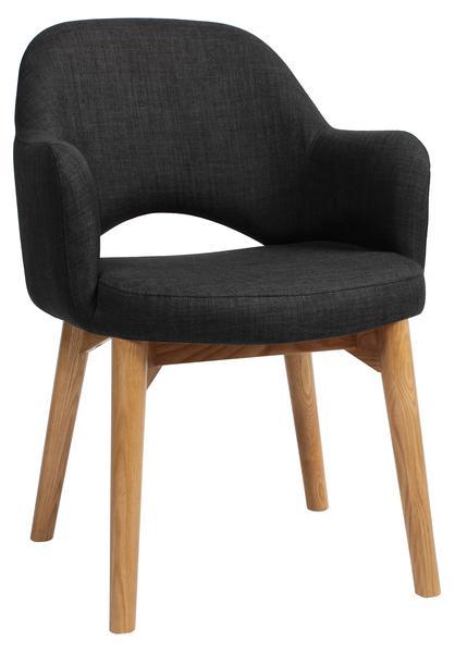 Albury chair light oak upholstered