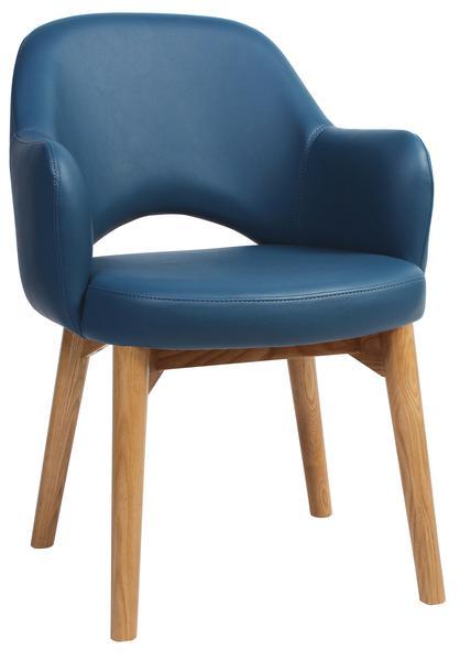 Albury arm chair light oak vinyl