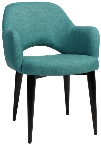 Albury arm chair steel/ fabric