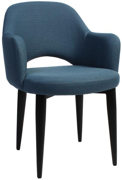 Albury arm chair steel/ fabric