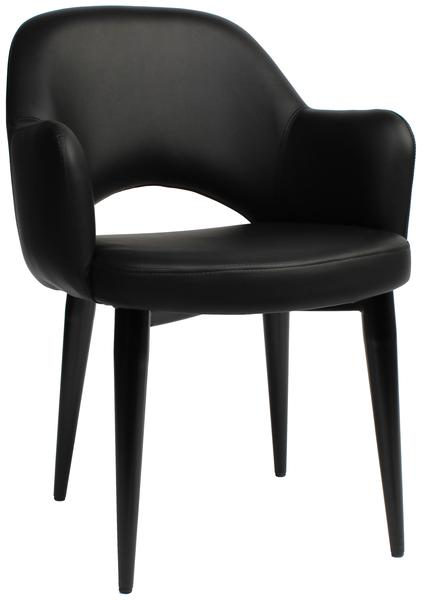 Albury arm chair steel/ vinyl
