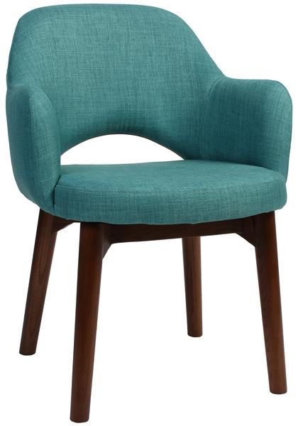 Albury arm chair walnut/ fabric