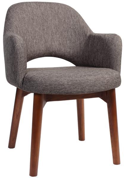 Albury arm chair walnut/ fabric