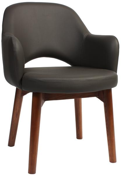 Albury arm chair walnut/ vinyl