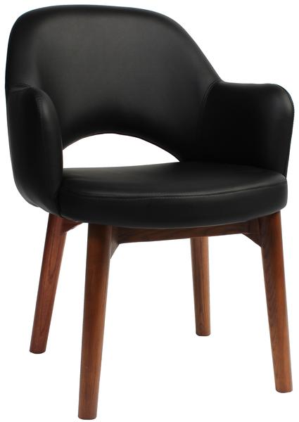 Albury arm chair walnut/ vinyl