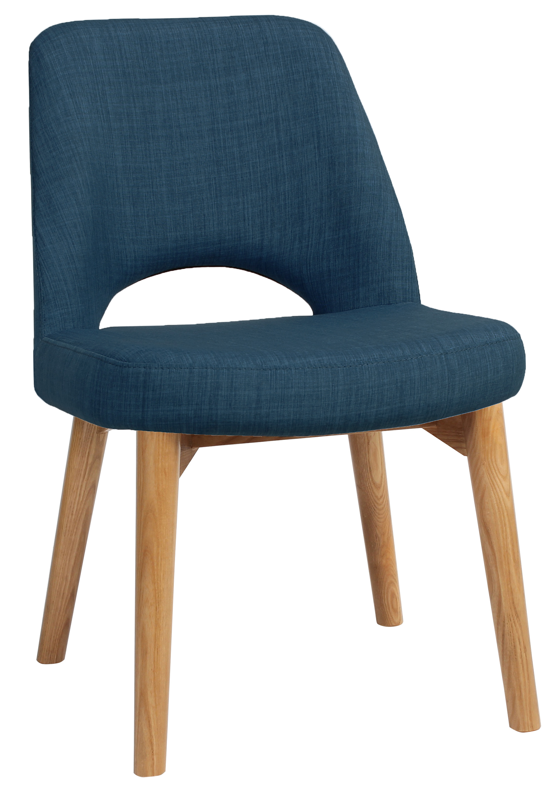 Albury side chair timber light oak fab