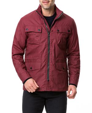 Rodd & Gunn Leithfield 4 Oz Staywax Jacket/Burgundy