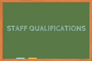 Ratings explained: Staff Qualifications