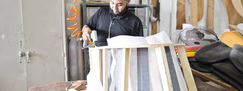 Upholsterers Select, Cut, Sew And Fit Fabric Or Leather Materials To  Furniture And Repair Damaged Furniture.