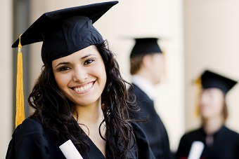 Female in graduation attire