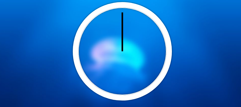 Clock with hands defaulting to 12
