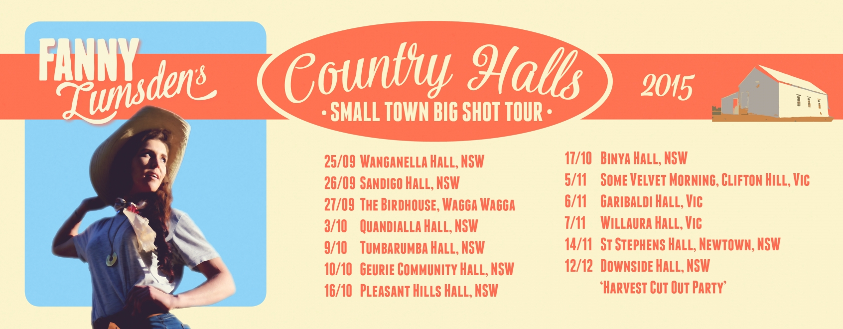 Fanny Lumsden - Country Halls Tour 2015 | Garibaldi Hall