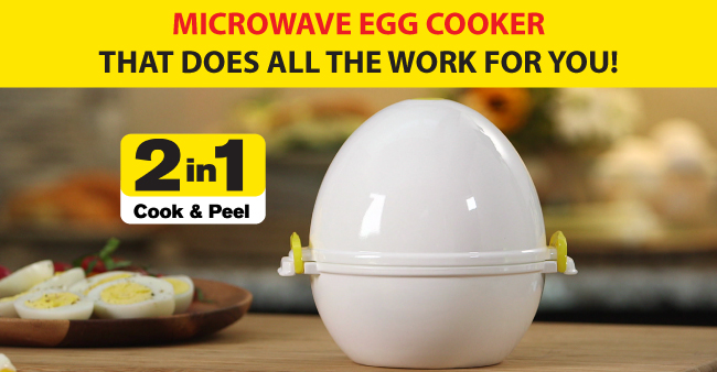 Egg Pod Microwave Egg Cooker And Peeler