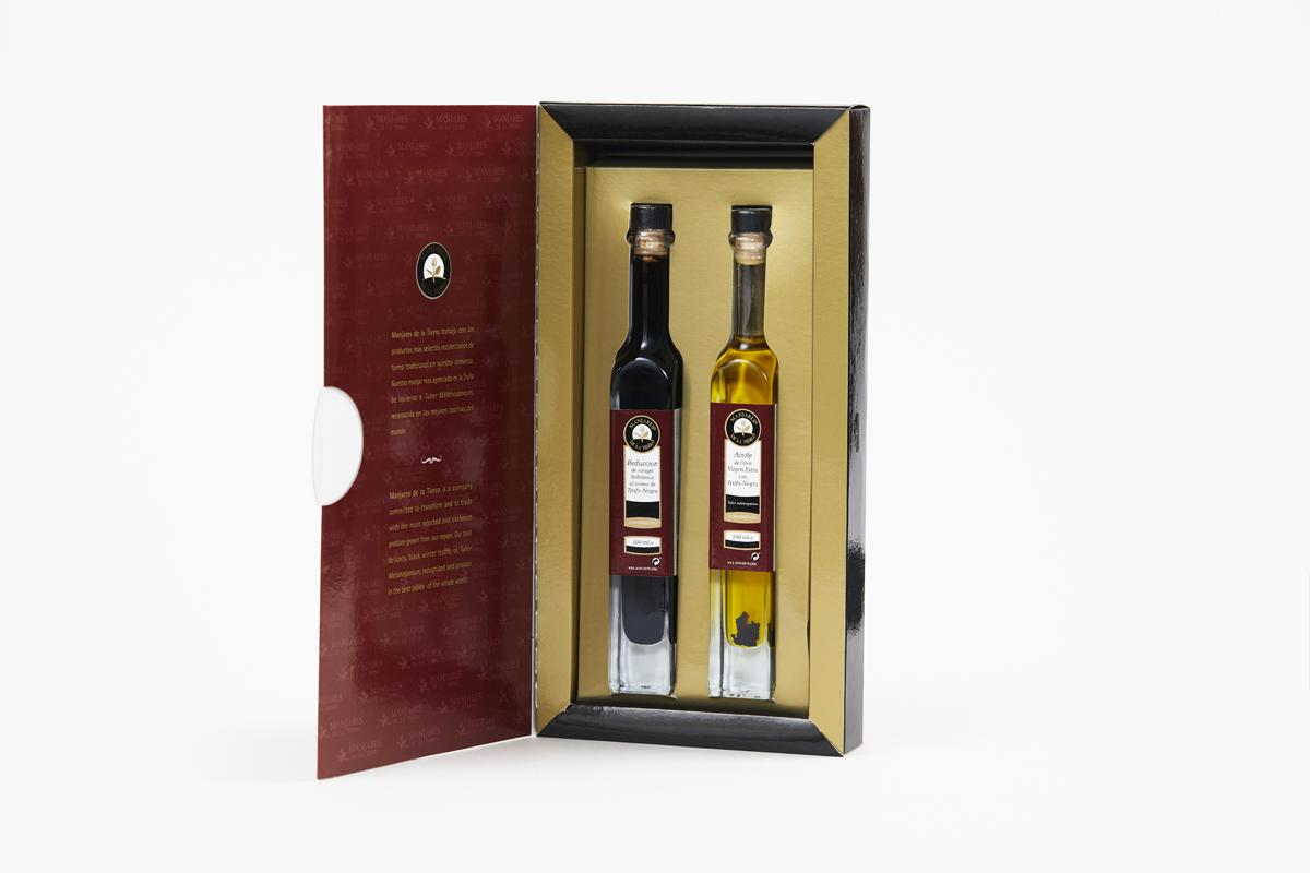 Manjares De La Tierra Truffle Oil and Vinegar Gift Pack