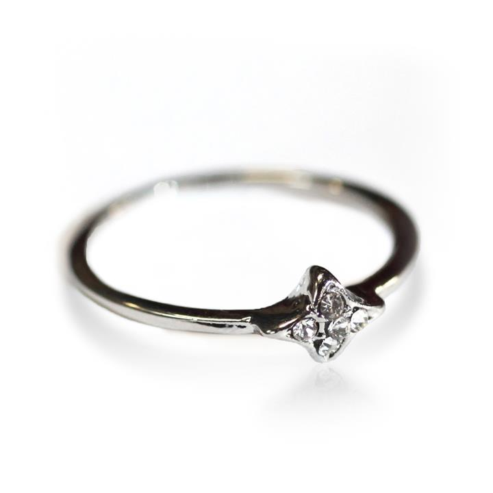 Catwalk Exclusive Inset Diamontes Ring in Silver