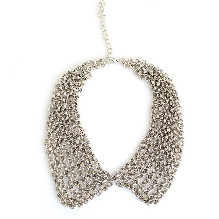 Catwalk Exclusive Multi Chain Peter Pan Collar Necklace